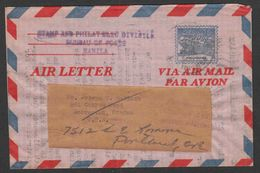 Philippines  - Cover #2 Used - Air Letter - Philippines