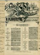 CAF CONC OPÉRETTE LES CLOCHES DE CORNEVILLE PARTITION LOT 3 AIRS ROBERT PLANQUETTE GABET CLAIRVILLE - Opern