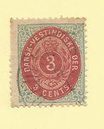 Danish West Indies - 1874/79 3c Carmine & Blue - Sc#6 - FU - S.176 - Denmark (West Indies)