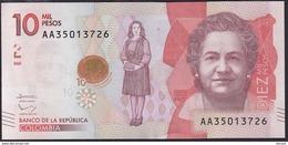 Colombia 10000 Pesos 2016 Pnew UNC - Colombie