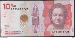 Colombia 10000 Pesos 2016 Pnew UNC - Colombia