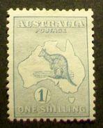"006-australia-1913 - "" Kangaroo And Map 1sh - Y.T. 10a Fil II , Mlh "" Valore Nuovo - Usati"