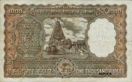 Indian 1000 Rupee BOMBAY  1975  - REPLICA --  REPRODUCTION - Indien
