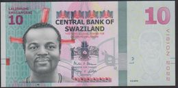 Swaziland 10 Emalangeni 2017 Pnew UNC - Swaziland