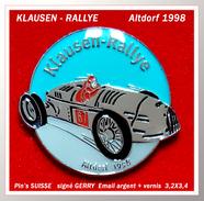 SUPER PIN'S RALLYE SUISSE : Course De Voitures Anciennes Au RALLYE Du KLAUSEN Dans Les Alpes Suisses émail Argent Vernis - Rallye