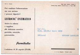 DEAR DOCTOR TYPE PUBL. LISTROCOL ENZIMATICO / FARMITALIA - GRECIA/GREECE - Grecia