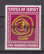 Jersey Revenue Stamp (Royal Court) £500 Overprint SPECIMEN  - Unmounted Mint NHM - Jersey