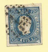 Portugal - 1866/67 120r Blue - Sc#24 - GU - S.199 - 1862-1884 : D.Luiz I