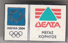 GREECE - DELTA Grand Sponsor Of Athens 2004 Olympics(02-DEL-001), Unused - Olympische Spiele