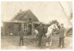 (PH 618) WWI - Feldpost  - Military German Mail - Postcard 1915 - Military Men And Horse - Militaria