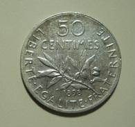 France 50 Centimes 1898 Silver - Francia