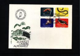 Liechtenstein 1974 Michel 609-12 FDC - Umweltschutz Und Klima