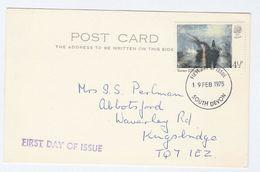 1975 GB 4 1/2p ART FDC Kingsbridge Philatelic Society Membership Meeting Card Cover Stamp Turner, South Devon - FDC