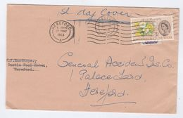 1963 GB FDC NATURE WEEK FLOWER Stamps REDIRECTED To GENEREL ACCIDENT Co HEREFORD - FDC