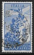 Italy, Scott # C134 Used Plane Over Bell Tower, 1956 - 1946-.. Republiek