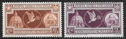 Italy, Scott # CB1-2 Mint Hinged Holy Year, 1933 - 1946-.. Republiek