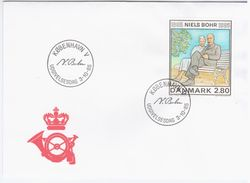 Danemark Danmark Denmark 1985 FDC Niels Bohr, Danish Physicist - FDC
