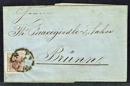 MM N° 4 / Y&T N° 4 - Brief - WIEN Nach BRÜNN - 1855. - Briefe U. Dokumente