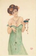 G172 - Fantaisie - Illustrateur - Raphael Kirchner - Femmes Art Nouveau - Reproduction Bio-Tex - Kirchner, Raphael