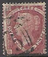GB   1870  Sc#32   1 1/2p  Plate #3  Used  2016 Scott Value $65 - 1840-1901 (Victoria)