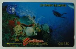 CAYMAN ISLANDS - GPT - CAY-2A - Underwater - Diver - 2CCIA - $7.50 - Mint - Cayman Islands