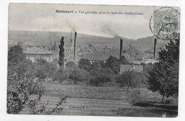 (RECTO / VERSO) HERICOURT EN 1905 - VUE GENERALE PRISE DU HAUT DES VIEILLES CUDES - BEAU CACHET - CPA VOYAGEE - Francia