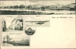 Cp Griesheim In Hessen, Totalansicht, Schulstraße, Mainfähre, Drahtseilbahn Der Chem. Fabrik - Germany