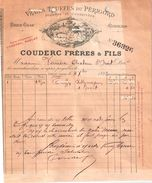Document Du 21/10/1893 COUDERC Truffes Du Périgord - Sarlat 24 - 1800 – 1899