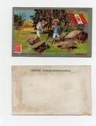 CHROMO Chocolat Klaus Postes Universelles Pérou Timbre Facteur Habits Traditionnels Drapeau - Chocolat