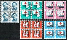 PRO/P. 5xBLOCS DE 4 OBLITERES 1er/J.1.6.1963. C/.S.B.K. Nr:B113/B117. Y&TELLIER Nr:711/715. MICHEL Nr:775/779. - Pro Patria