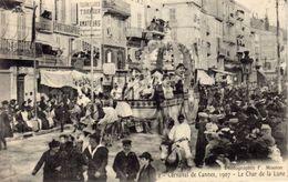 06)   CANNES     -    Carnaval     De  Cannes  1907   -   Le   Char    De La Lune - Cannes