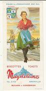 BUVARD -  BISCOTTES MAGDELEINE (9 X 20cm ) Picardie - Zwieback