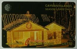 CAYMAN ISLANDS - GPT - CAY-7A - Season's Greetings Christmas House 93 - 7CCIA - $7.50 - White Strip - Used - Cayman Islands