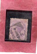 NEW ZEALAND NUOVA ZELANDA 1882 VICTORIA QUEEN REGINA VITTORIA PENNY 2p PENCE USATO USED OBLITERE' - 1855-1907 Crown Colony