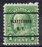 USA Precancel Vorausentwertung Preo, Bureau New York, Plattsburg 632-61 - United States