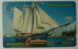 CAYMAN ISLANDS - GPT - CAY-8B - Schooner - 8CCIB - $10 - White Strip - VF Used - Cayman Islands