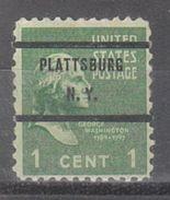 USA Precancel Vorausentwertung Preo, Bureau New York, Plattsburg 804-71 - United States