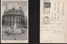 13592) GENOVA PIAZZA DE FERRARI VIAGGIATA 1940 - Genova