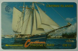 CAYMAN ISLANDS - GPT - CAY-8B - Schooner - 8CCIB - $10 - White Strip - VARIATION - RARE - Used - Cayman Islands