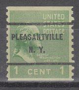 USA Precancel Vorausentwertung Preo, Bureau New York, Pleasantville 839-61 - United States