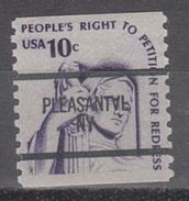 USA Precancel Vorausentwertung Preo, Bureau New York, Pleasantville 1617-87 - Precancels