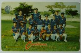 CAYMAN ISLANDS - GPT - CAY-8D - Softball - 8CCID - $15 - White Strip - F Used - Cayman Islands