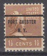 USA Precancel Vorausentwertung Preo, Bureau New York, Port Chester 805-71 - United States