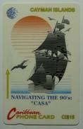CAYMAN ISLANDS - GPT - CAY-8E - Ship Casa - 8CCIE - $15 - White Strip - VF Used - Cayman Islands