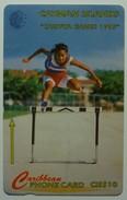 CAYMAN ISLANDS - GPT - CAY-11A - Carifta Games,1995 - 11CCIA - $10 - White Strip - Used - Cayman Islands