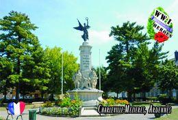 Carte Postale, Militaria, Monuments, World War I Monuments, France (Ardennes), Charleville-Mézières 2 - Monuments Aux Morts