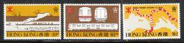 Hong Kong 1979 Scott 358-60 MTR Subway MNH** - Hong Kong (...-1997)