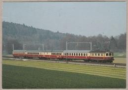 SBB CFF Elektro-Schnellzuglokomotive Re 4/4 Nr. 10046 Im Oktober 1983 Bei Langenthal - TEE - Train - Railway - Bahn - Gares - Avec Trains