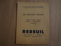 DOCUMENT PUBLICITAIRE REDEUIL PAIN FRAIS 1938 PARIS - Alimentaire