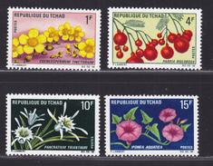 TCHAD N°  179 à 182 ** MNH Neufs Sans Charnière, TB  (D3731) Fleurs Et Fruits - Chad (1960-...)